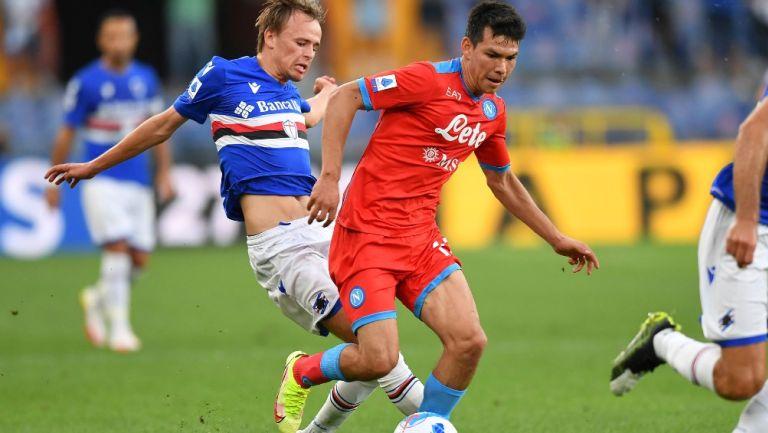 Hirving 'Chucky' Lozano se luce frente al Sampdoria