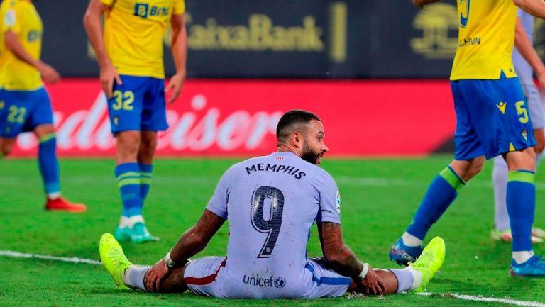 Memphis Depay en el empate frente al Cádiz