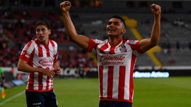 Gilberto Sepúlveda en un partido con Chivas