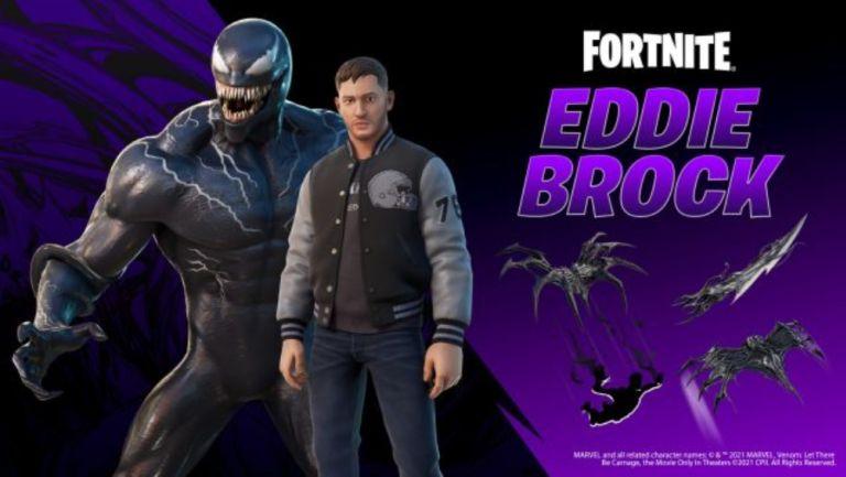 Venom y Eddie Brock en Fortnite