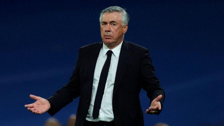 Ancelotti en el partido del Real Madrid