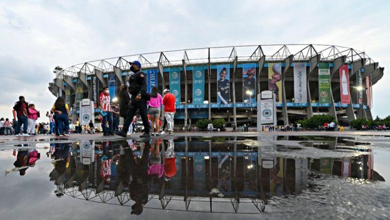 Estadio Azteca previo al Clásico Nacional