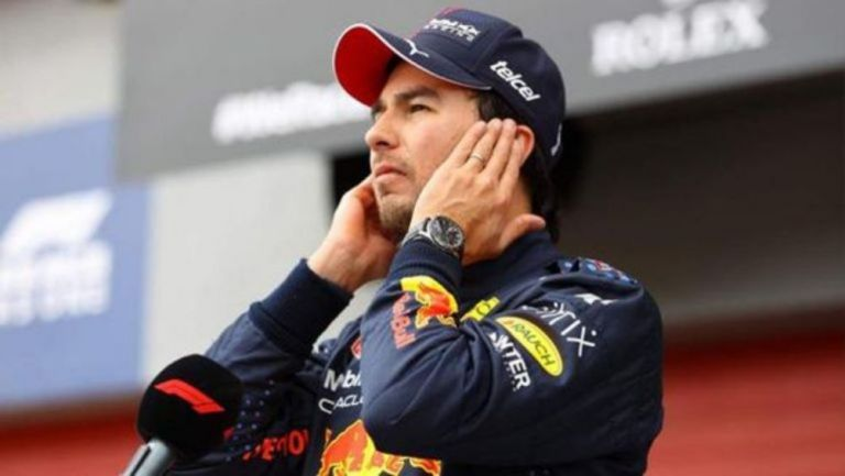 Sergio Pérez tras una carrera de F1