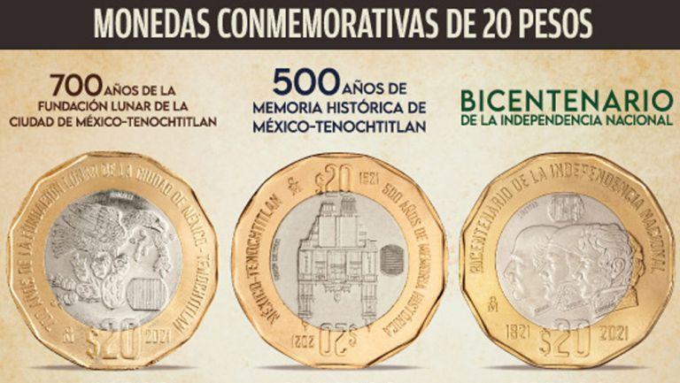 Monedas conmemorativas en México