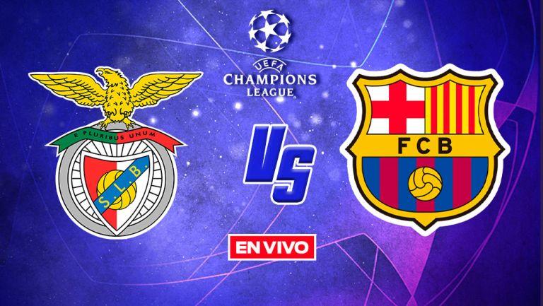 Benfica vs Barcelona Champions League EN VIVO Fase de Grupos J2