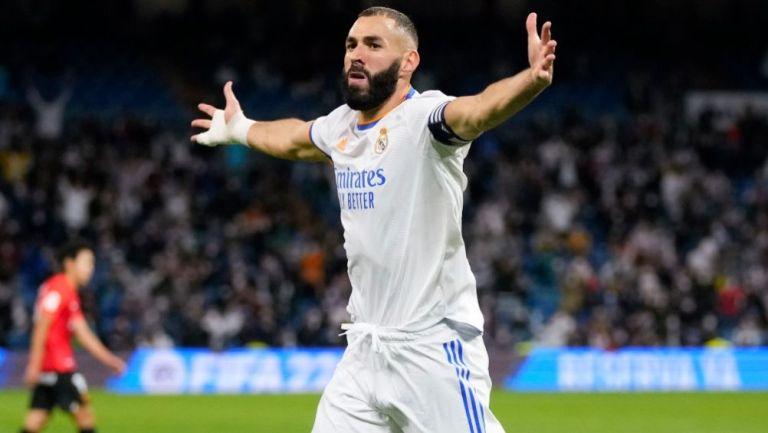 Benzema tras anotar gol a favor del Real Madrid