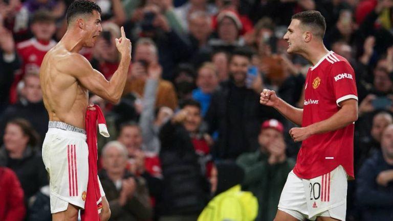 Ronaldo festejado el gol del triunfo del United