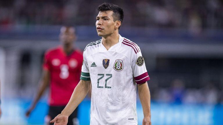 Chucky Lozano durante un partido con México