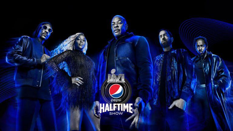 Promocional del hallftime del Super Bowl LVI