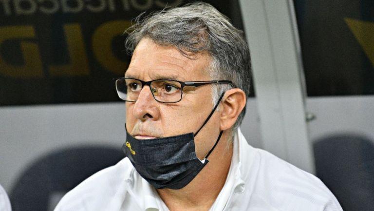 Tata Martino en un partido de la Selección Mexicana