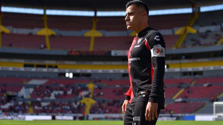 Aldo Rocha durante partido ante el León