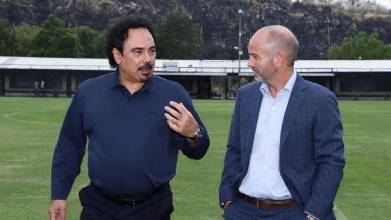 Luis García y Hugo Sánchez en Cantera