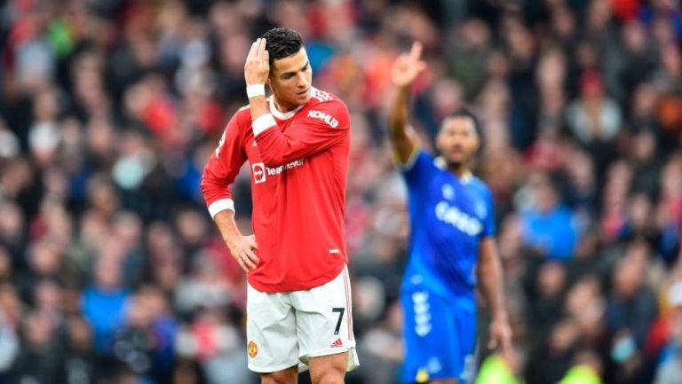 Cristiano Ronaldo en el Manchester United vs Everton