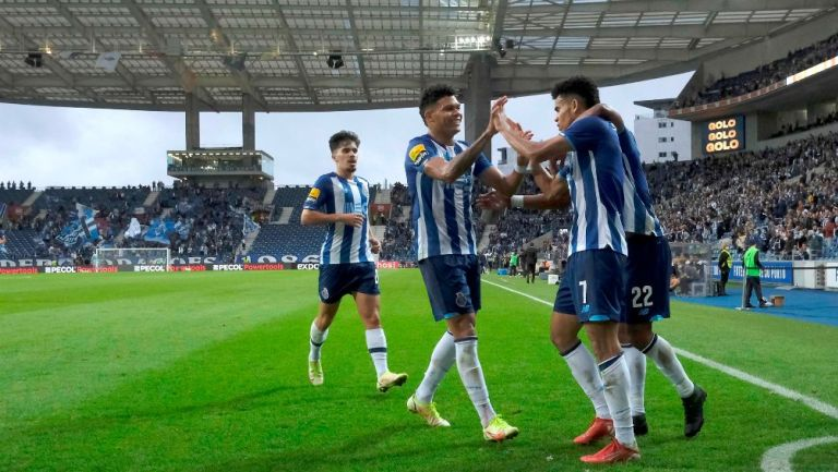 Porto celebró anotación frente al Paços de Ferreira