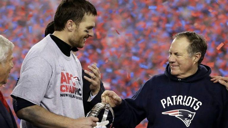 Tom Brady y Bill Belichick celebran sexto título juntos con los Patriots