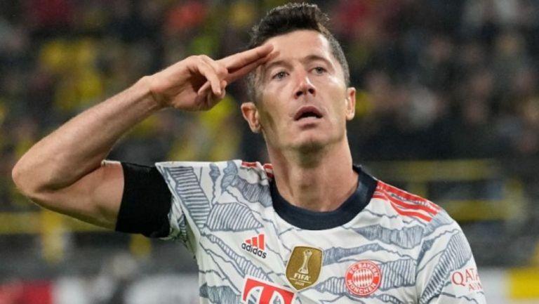 Robert Lewandowski en acción con Bayern Munich