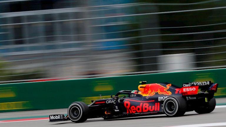 Checo Pérez en el Gran Premio de Rusia