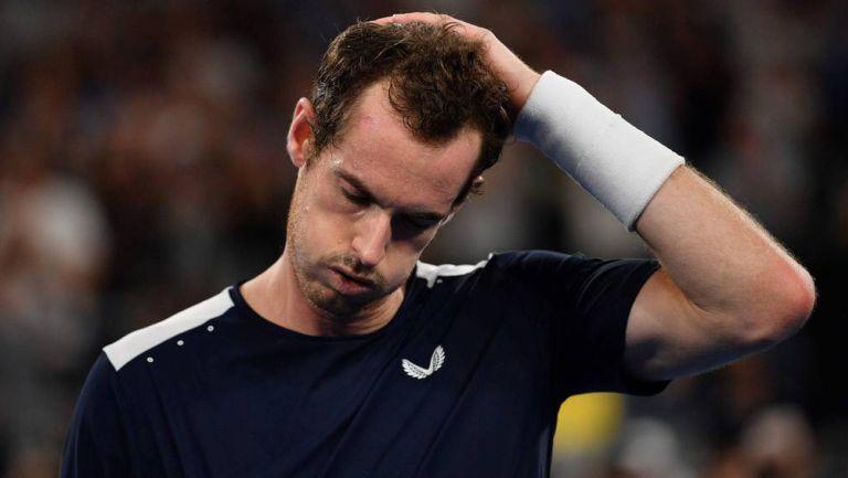 Andy Murray se lamenta en un juego