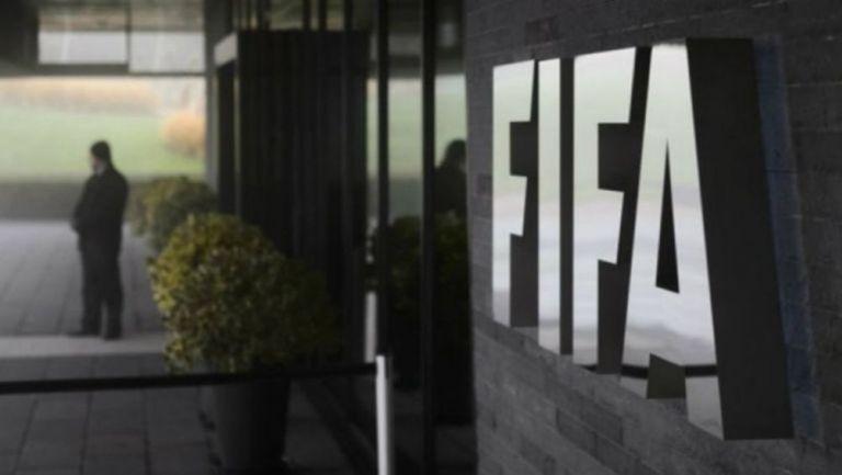 El logo en las oficinas de FIFA