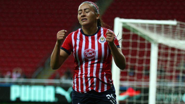 Rubí Soto durante un partido con Chivas