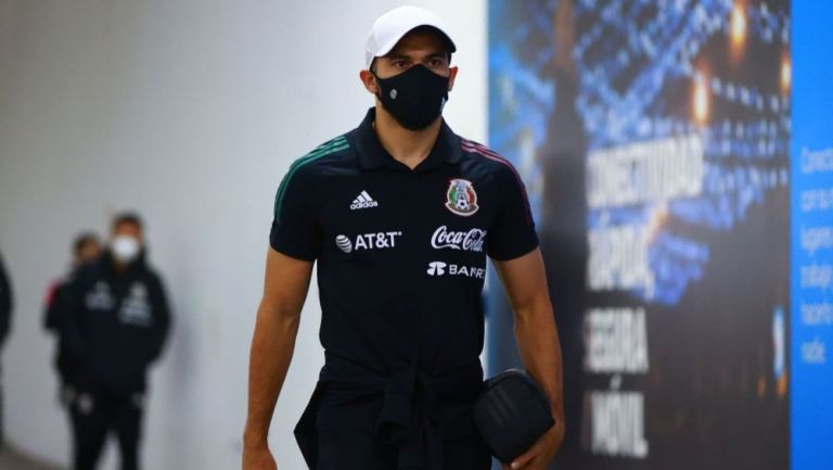 Henry Martín previo al partido entre México y Canadá