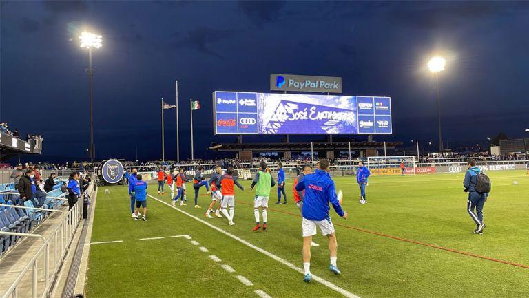 Jugadores de Cruz Azul previo al partido ante Earthquakes