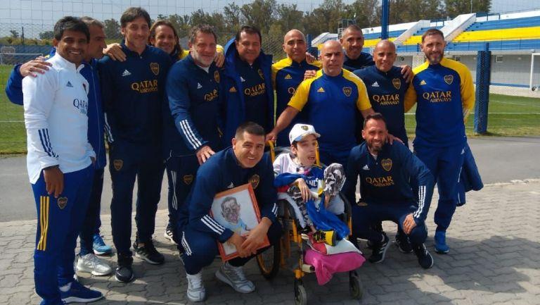 Video: Juan Román Riquelme tuvo un gran gesto con un hincha con capacidades diferentes