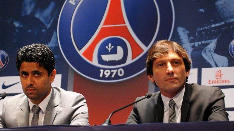 Leonardo y el presidente del PSG
