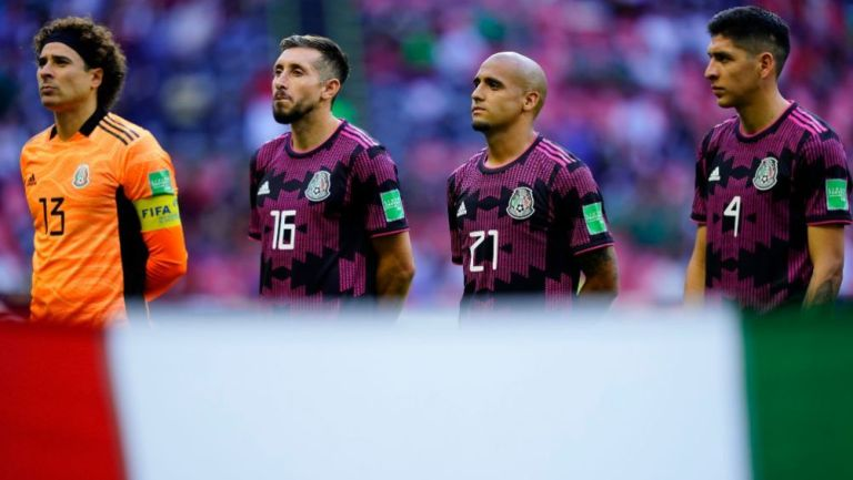 Guillermo Ochoa, Héctor Herrera, Chaka Rodríguez y Edson Álvarez