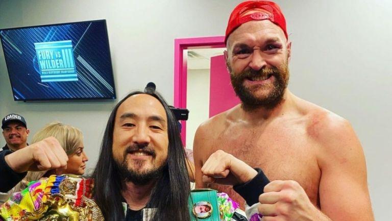 Tyson Fury y Steve Aoki