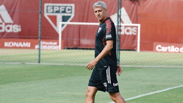 Hernán Crespo durante un entrenamiento del Sao Paulo