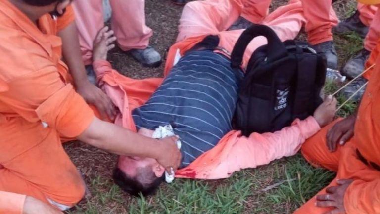 Manifestantes heridos en Dos Bocas