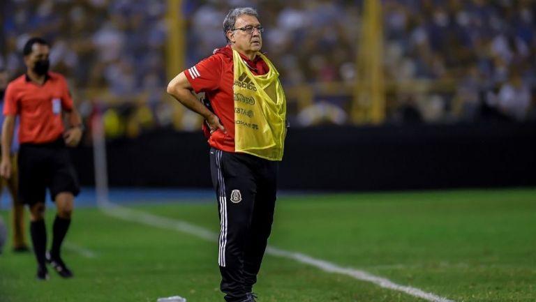 Tata Martino en el juego de la Selección